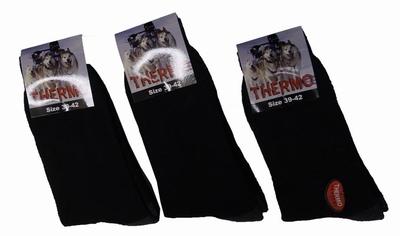 """Thermo sokken  """" Zwart / grijs """"  3 paar"""