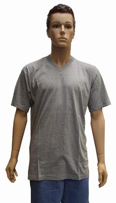 """V-hals T-shirt met korte mouwen  """" Grijs """""""
