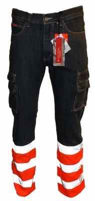 "Brams Paris jeans  "" Finn "" Veiligheid stukken Dark / oranje"