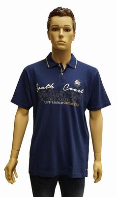 """Polo met korte mouwen  """" South coast """"   Donker blauw"""