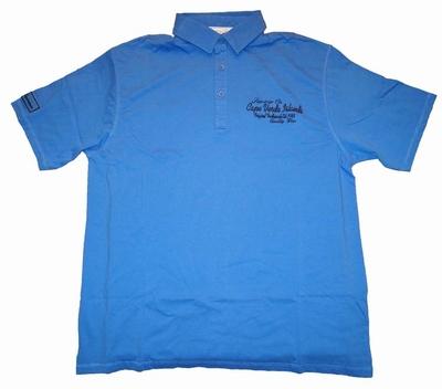 """Polo met korte mouwen  """" Cape verde Islands  """"  Blauw"""