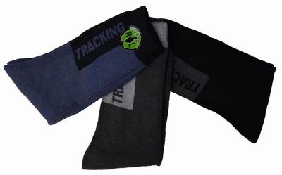 """Tracking sokken  """" Blauw / grijs / zwart  """"   3 paar"""