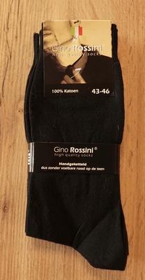 "4 paar heren sokken  "" Gino Rosini ""   Zwart"