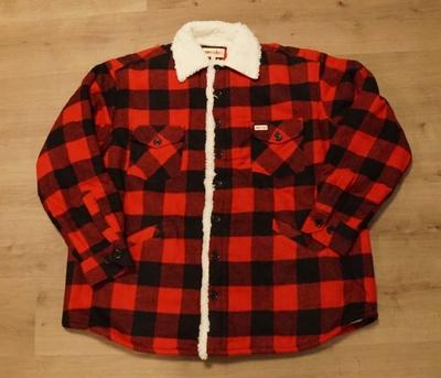 "Gevoerde houthakkers blouse  ""  Rood/ zwart """