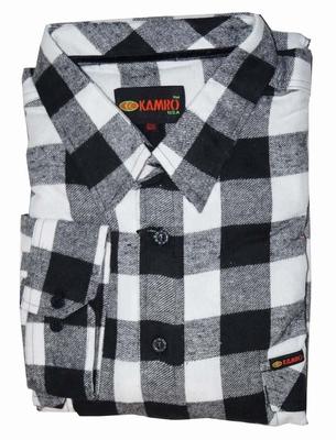 "Houthakkers blouse  ""  Zwart / wit """
