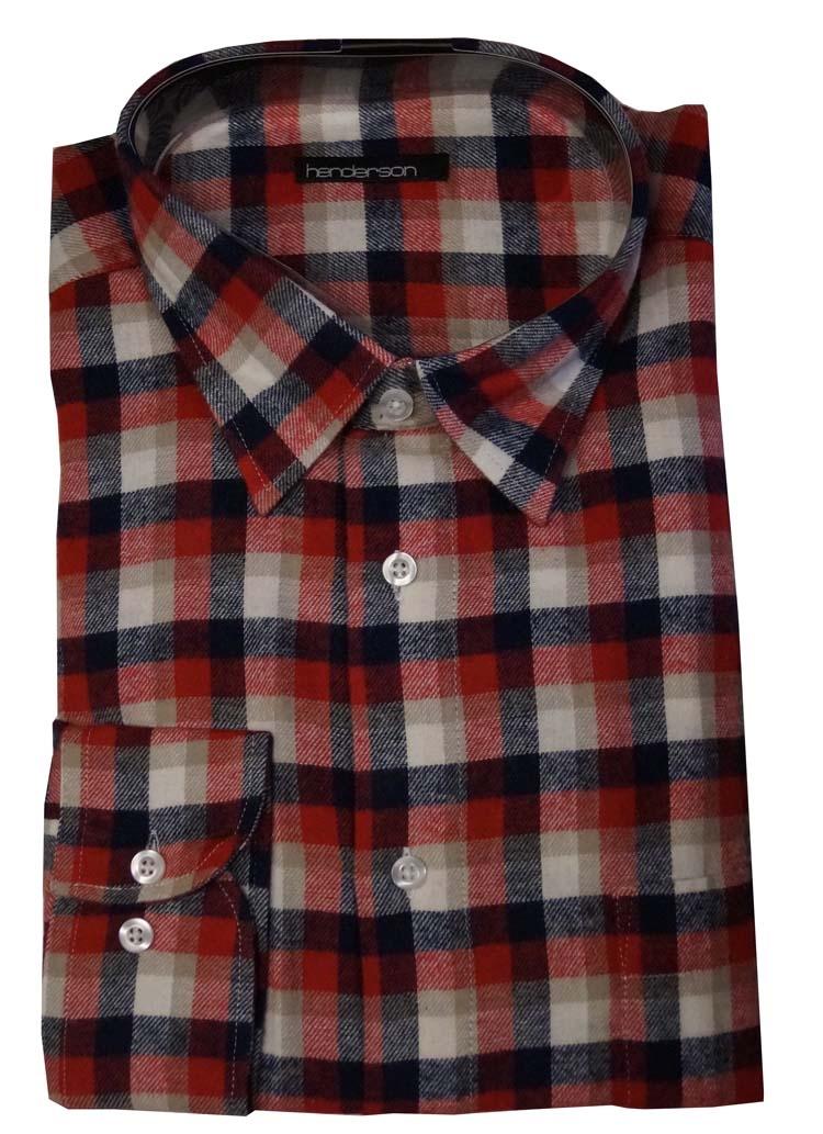"Fleece blouse met lange mouwen "" Henderson "" Geruit"