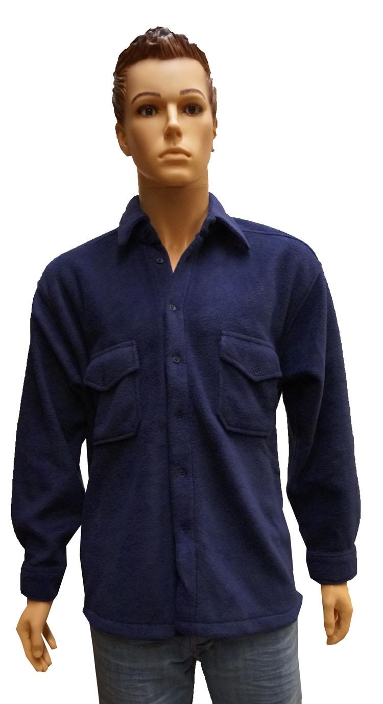 """Fleece vest / blouse  """" Donker blauw """""""
