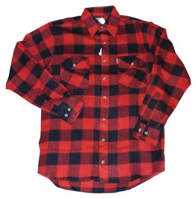 "Houthakkers blouse  ""  Zwart / rood """