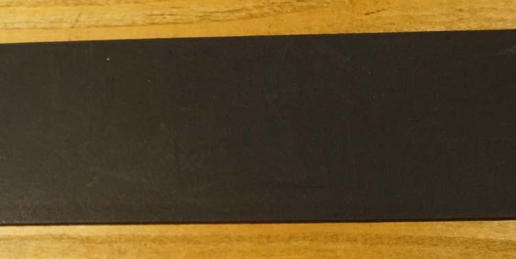 """Leren jeans riem donker bruin """"  Vittozzi 612  """" 4 cm breed"""