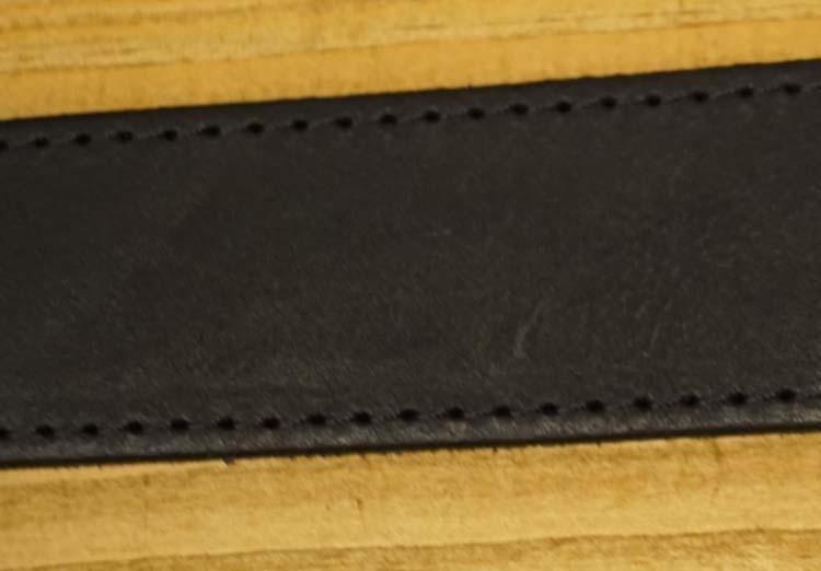 """Leren riem zwart  """" Door gestikt """"   4 cm breed"""