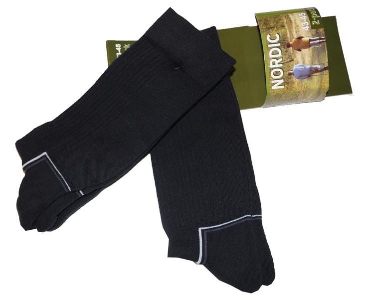 """Nordic sokken  """" Zwart  """"  2 paar"""