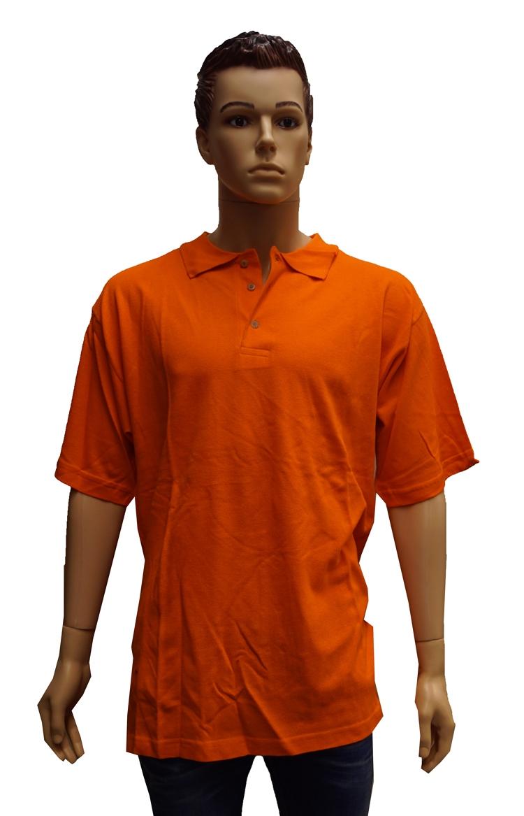 """Polo met korte mouwen  """" Oranje """""""