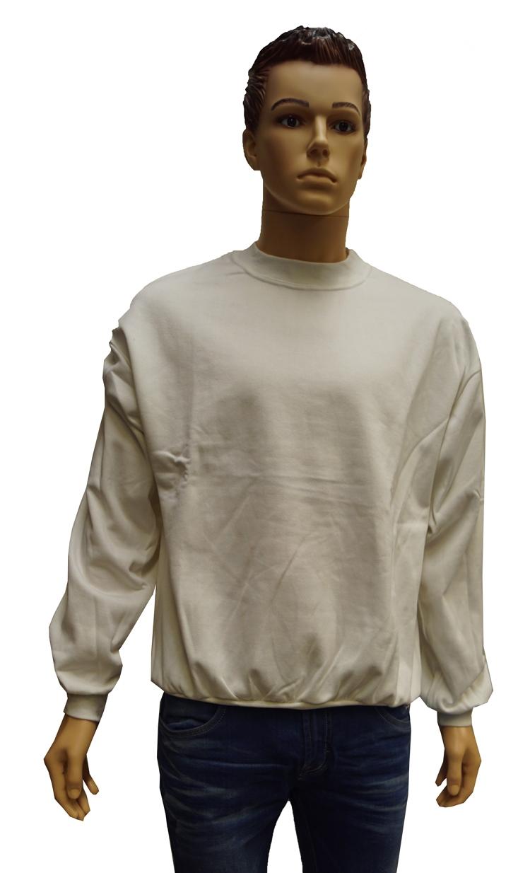"Sweater met boord  "" Wit """