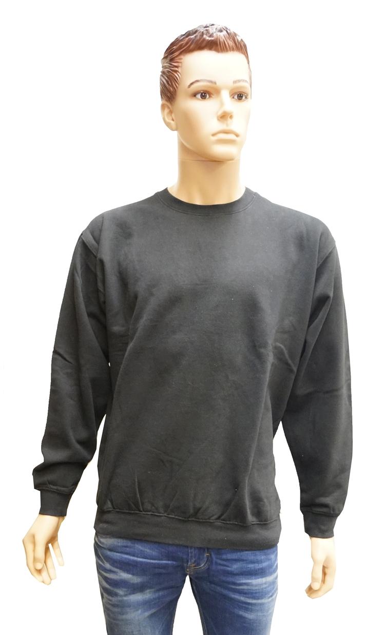 """Sweater met boord  """" Zwart """""""