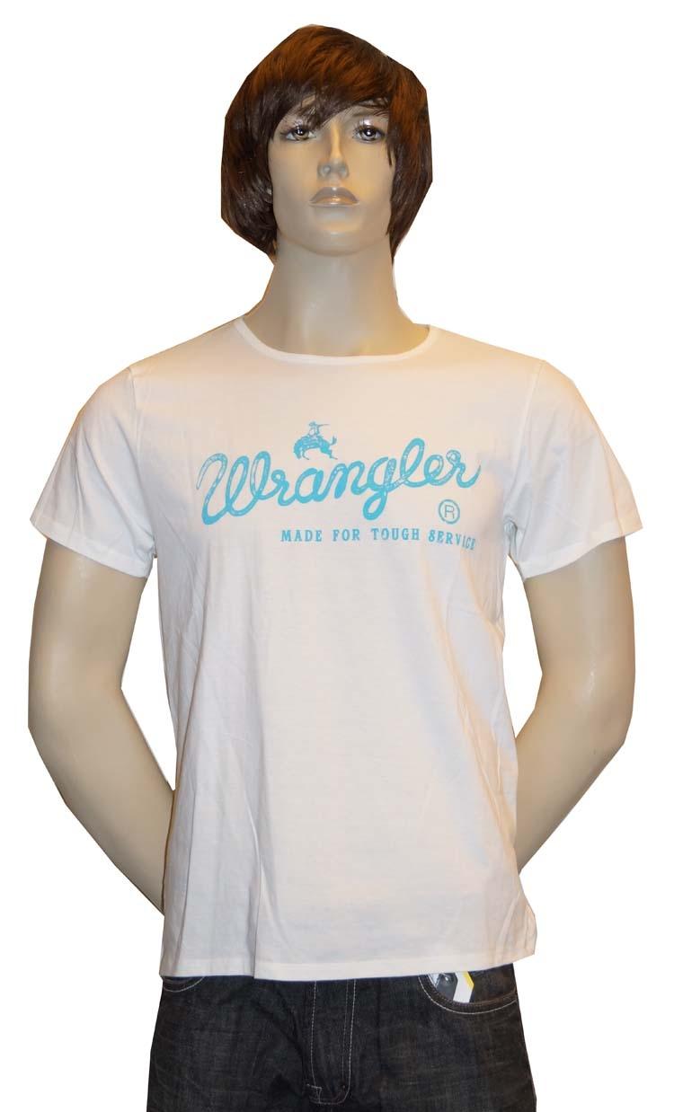 """T-shirt met kort mouwen   """" Wrangler """"  Wit"""