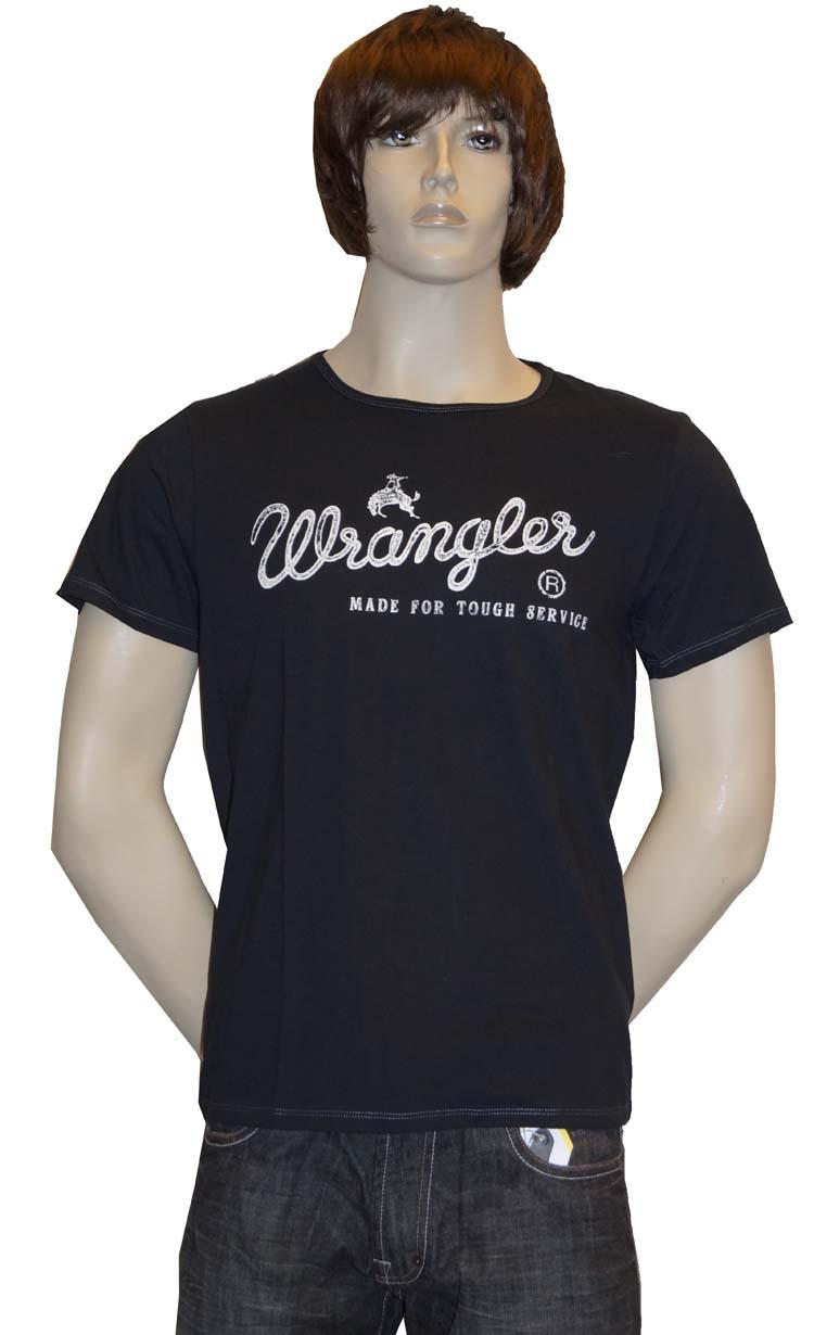 """T-shirt met kort mouwen   """" Wrangler """"  Zwart"""