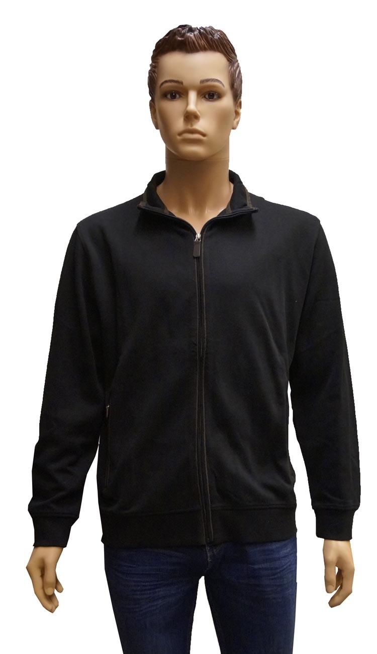 """Vest met capuchon """" GCM """"  Zwart / bruin"""