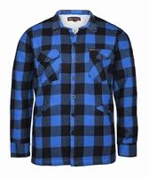 """Gevoerde houthakkers blouse  """"  Blauw / zwart """""""