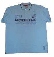 "Polo met korte mouwen  "" Newport Ma ""  Licht blauw"